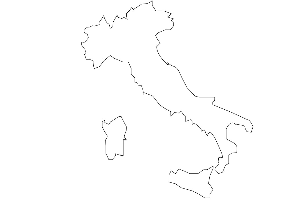 Cartina Vuota Dell Italia.Cartine Geografiche Da Stampare E Colorare Nostrofiglio It