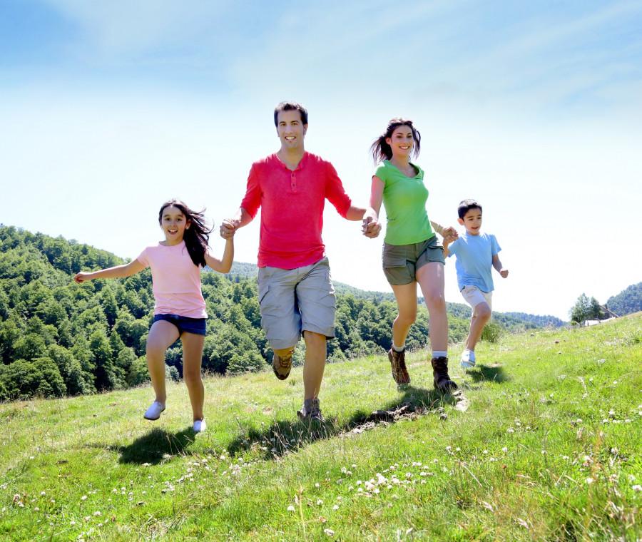 famiglia-nel-verde