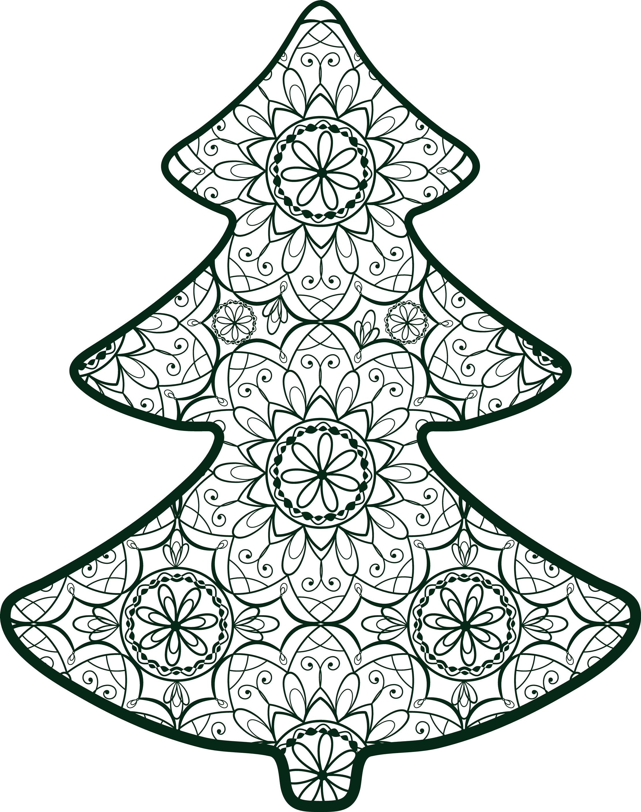 Disegni Di Natale Da Colorare Per Adulti.Mandala Di Natale Per Bambini E Adulti Nostrofiglio It