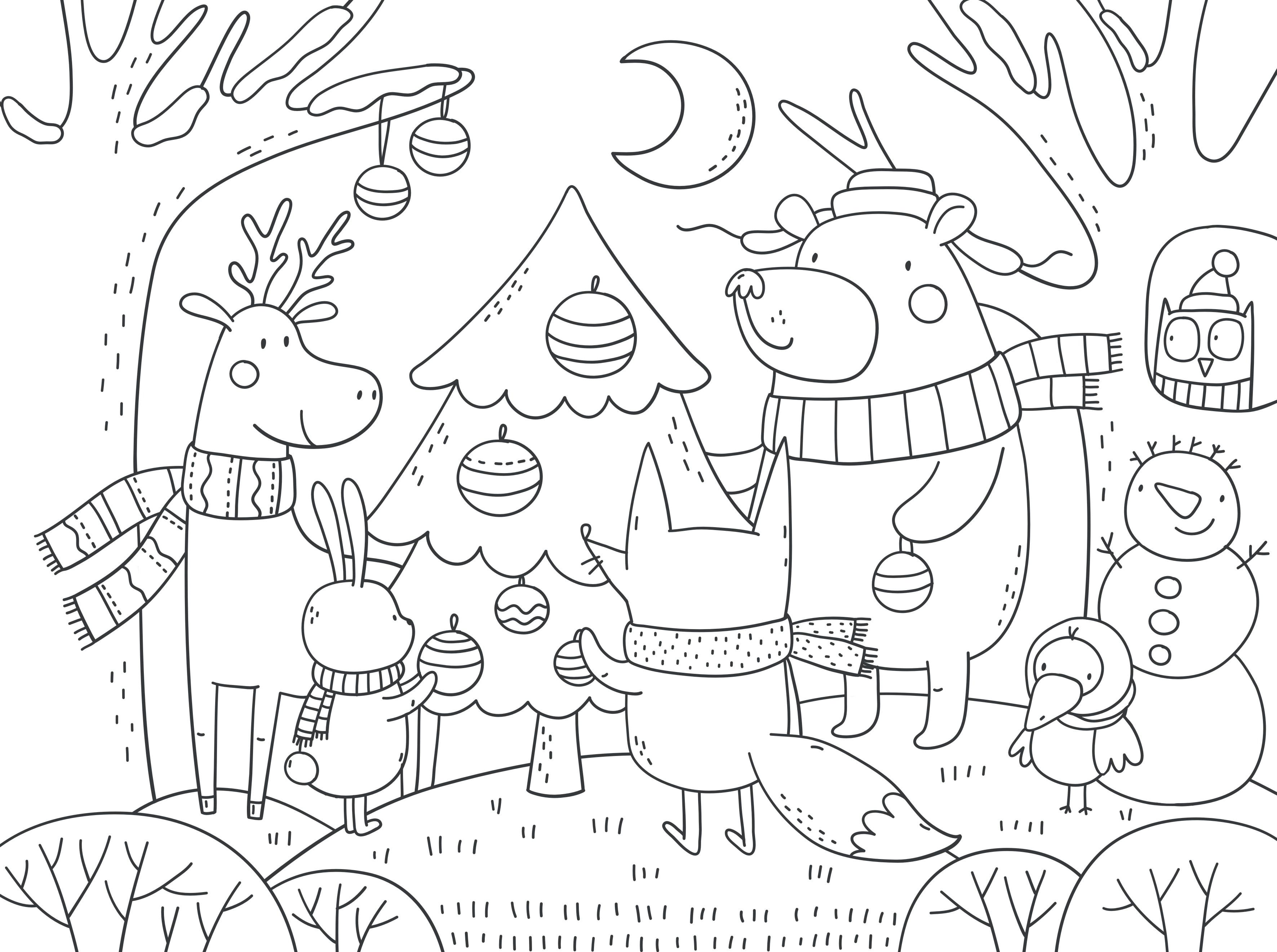 Disegni Paesaggi Di Natale.Disegni Di Alberi Per Bambini Da Colorare Nostrofiglio It