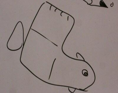 disegno-pesce-calzino