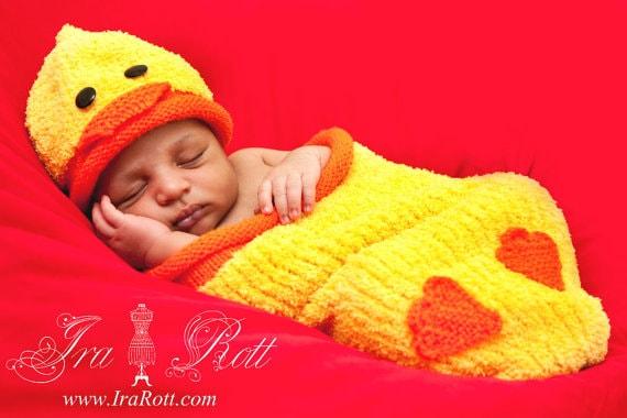 Baby_Duck_Hat_Cocoon_Set