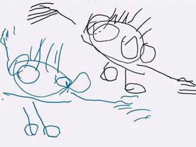 Le 5 fasi del disegno dei bambini for Immagine di un disegno di architetto