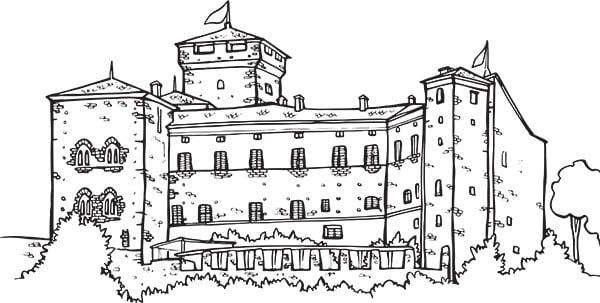 Disegni da colorare i monumenti for Disegni di casa chateau francese