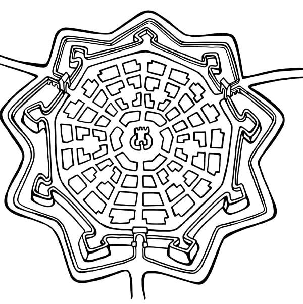 Disegno da colorare palmanova for Disegni per mosaici da stampare