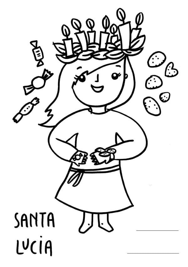 Santa lucia i bambini aspettano dolci e regali for Disegni facili di natale