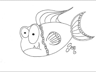 Pesce d 39 aprile for Disegni di pesci da colorare per bambini