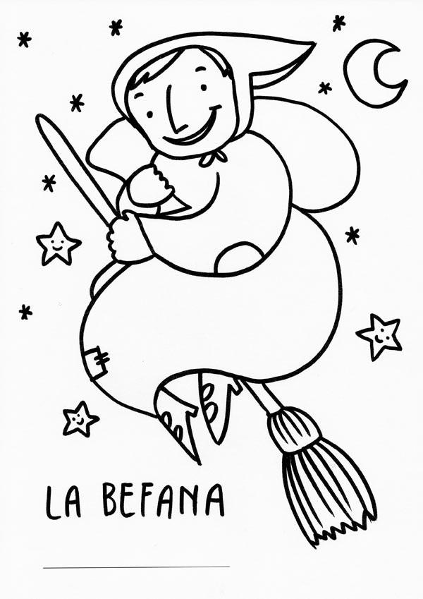 Natale tanti disegni d 39 autore da colorare for Disegni da colorare befana