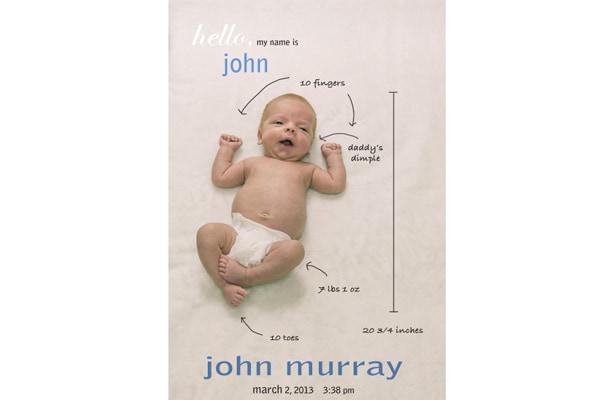 Molto 21 idee originali per annunciare la nascita di un bambino  PY12