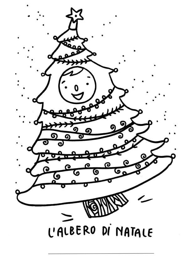 Natale tanti disegni d 39 autore da colorare for Foto di alberi da colorare