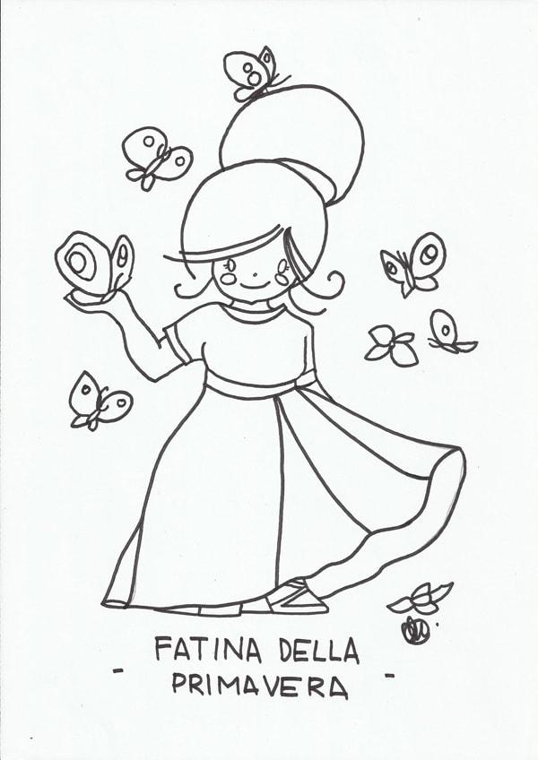 Disegno Da Colorare La Fatina Nostrofiglioit