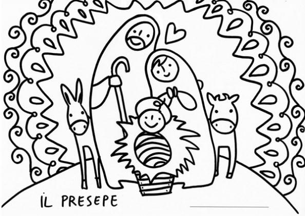 12 disegni natalizi da colorare for Disegni facili di natale