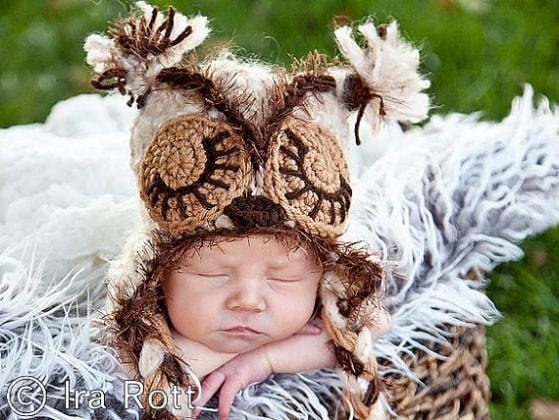 Crochet_Newborn_Baby_Owl_Hat_Mohair