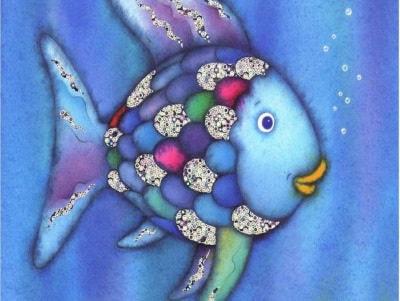 Disegna con il pesciolino arcobaleno for Pesciolino da colorare