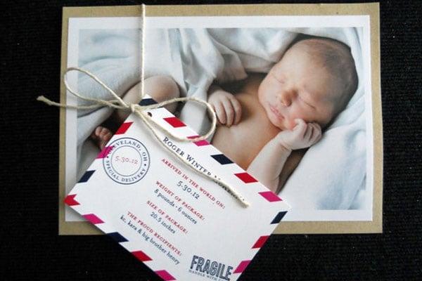 Ben noto 21 idee originali per annunciare la nascita di un bambino  CP65