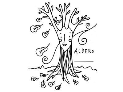 albero-colorare