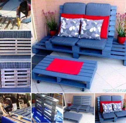 37 idee fai da te per arredare il giardino o il balcone for Salottino da balcone