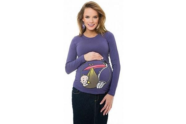 Famoso T-shirt premaman per annunciare l'arrivo di un bebè - Nostrofiglio.it MC02