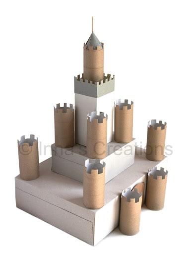 fare un castello con rotoli di carta igienica e scatole di cartone ...