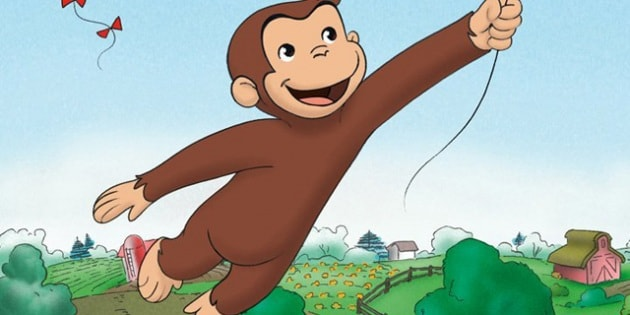 Cartone animato curioso come george ostia decorazione torta cialda