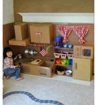 12 idee creative per trasformare la vostra casa in un - Casa di cartone ...