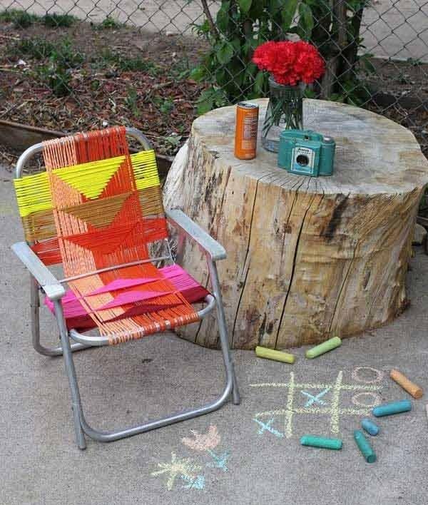 Sedie Da Giardino Fai Da Te.37 Idee Fai Da Te Per Arredare Il Giardino O Il Balcone