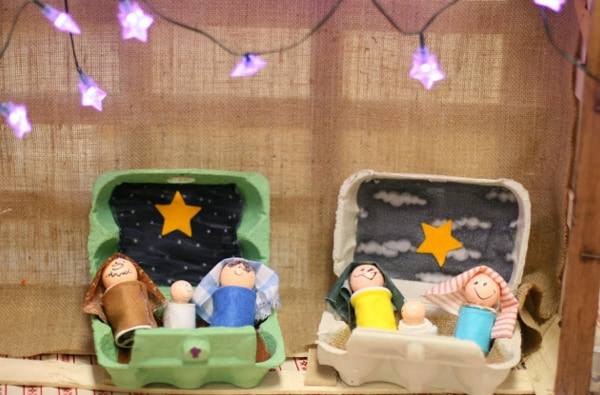 Presepe Con Bastoncini Di Legno : Presepi originali da fare con i bambini nostrofiglio