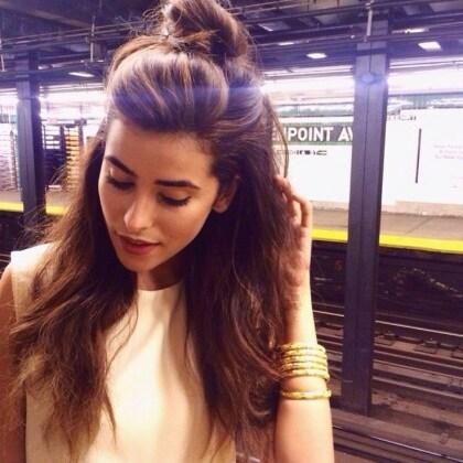 the-half-bun-hairstyle-trend-2015-7