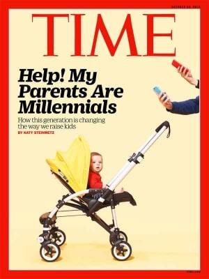 time copertina genitori millenial