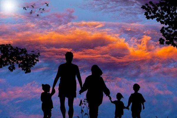 Famiglia in gita
