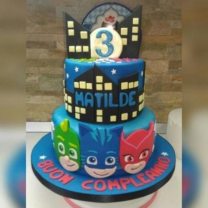 11 torte di compleanno dei super pigiamini for Disegni di 2 piani