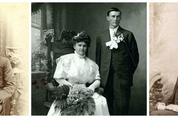 Ritratti di nozze d'epoca, 15 suggestive foto