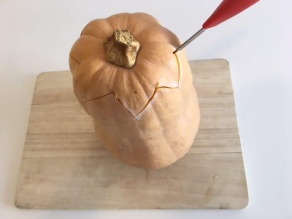 zucca halloween intagliata