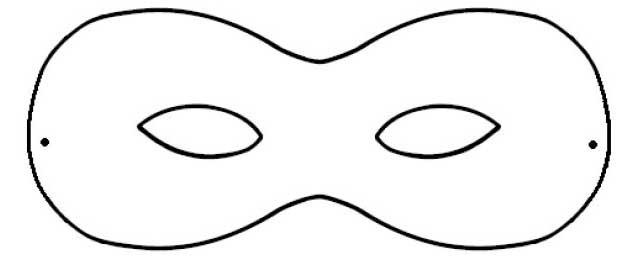 Maschere di carnevale fai da te 10 idee for Mascherina carnevale da colorare