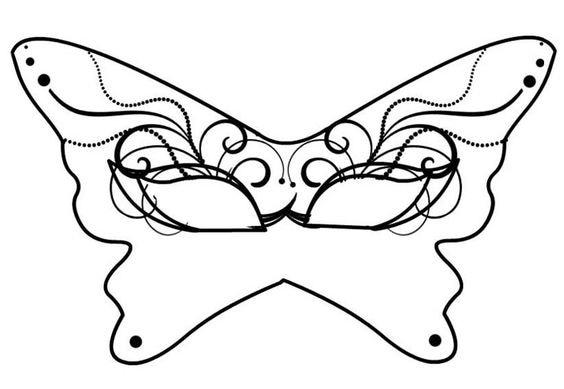 maschera di carnevale farfalla