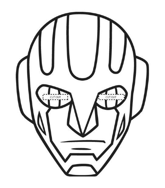maschera di carnevale robot