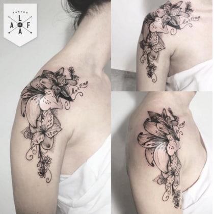 25 tatuaggi femminili per la spalla pi o meno piccoli for Immagini tatuaggi spalla