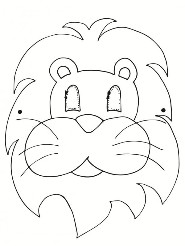 maschera di carnevale leone