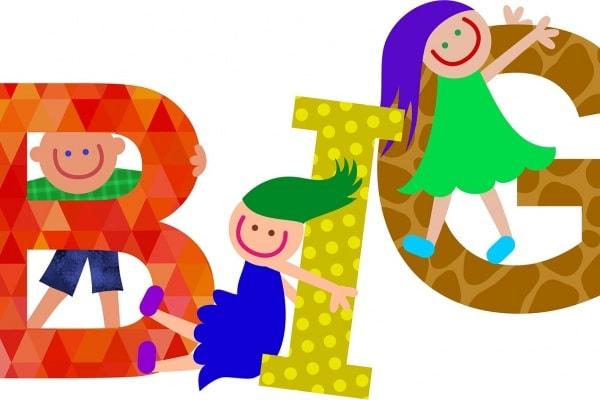 alfabeto bambini