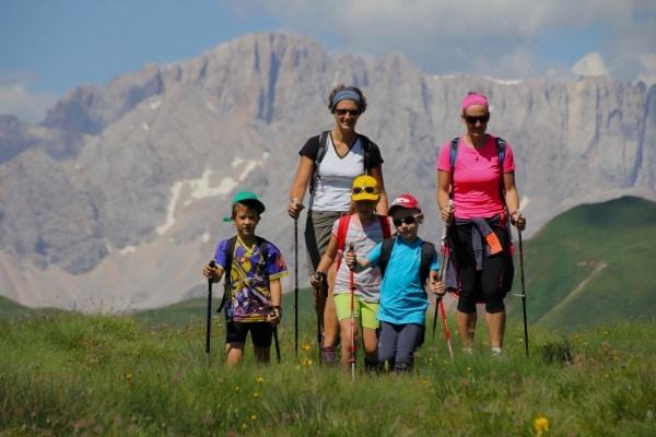nordic walking famiglia