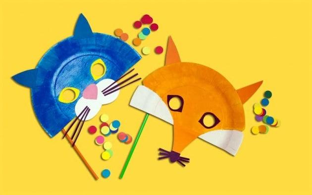 Estremamente Lavoretto per bambini: maschere per Carnevale degli animali  IQ92