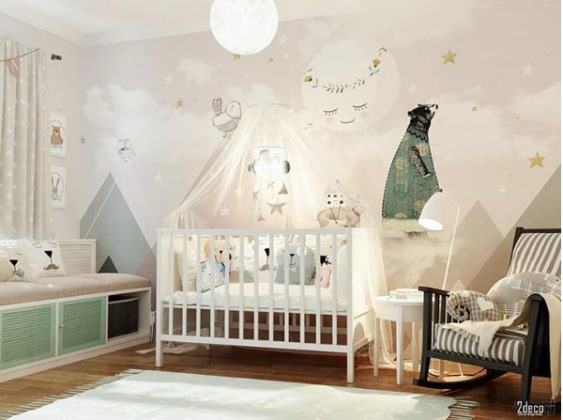 Qualche idea originale per le camerette dei neonati - Idee camerette neonato ...