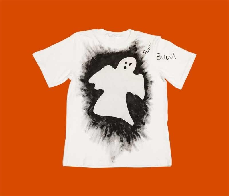 Personalizzato Ragazze Halloween fantasma per bambini T-shirt maglietta a per Bambini Regalo