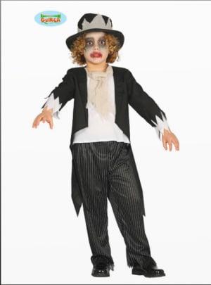 Bowanadacles Mantello a Frange per Bambini 2 Pezzi con Cappello Stampato di Fantasma Inquietante Costume per Halloween Carnevale Cosplay 1-5 Anni