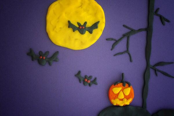 lavoretti halloween scuola infanzia pasta di sale