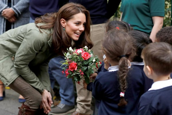 kate middleton rientro