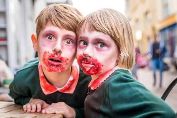 trucco zombie bambini halloween
