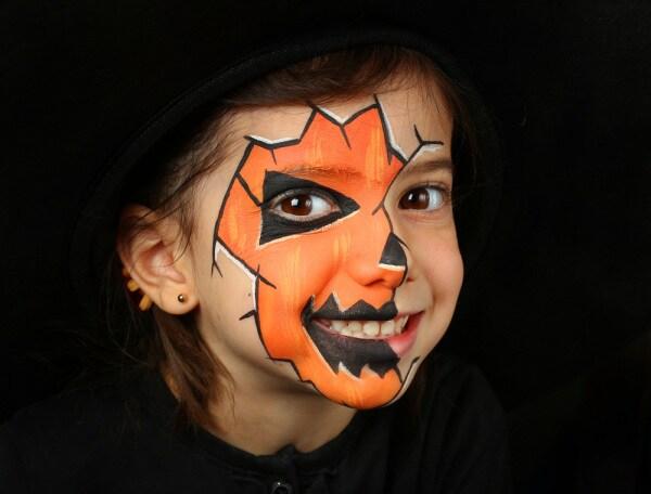 trucco viso halloween bambini