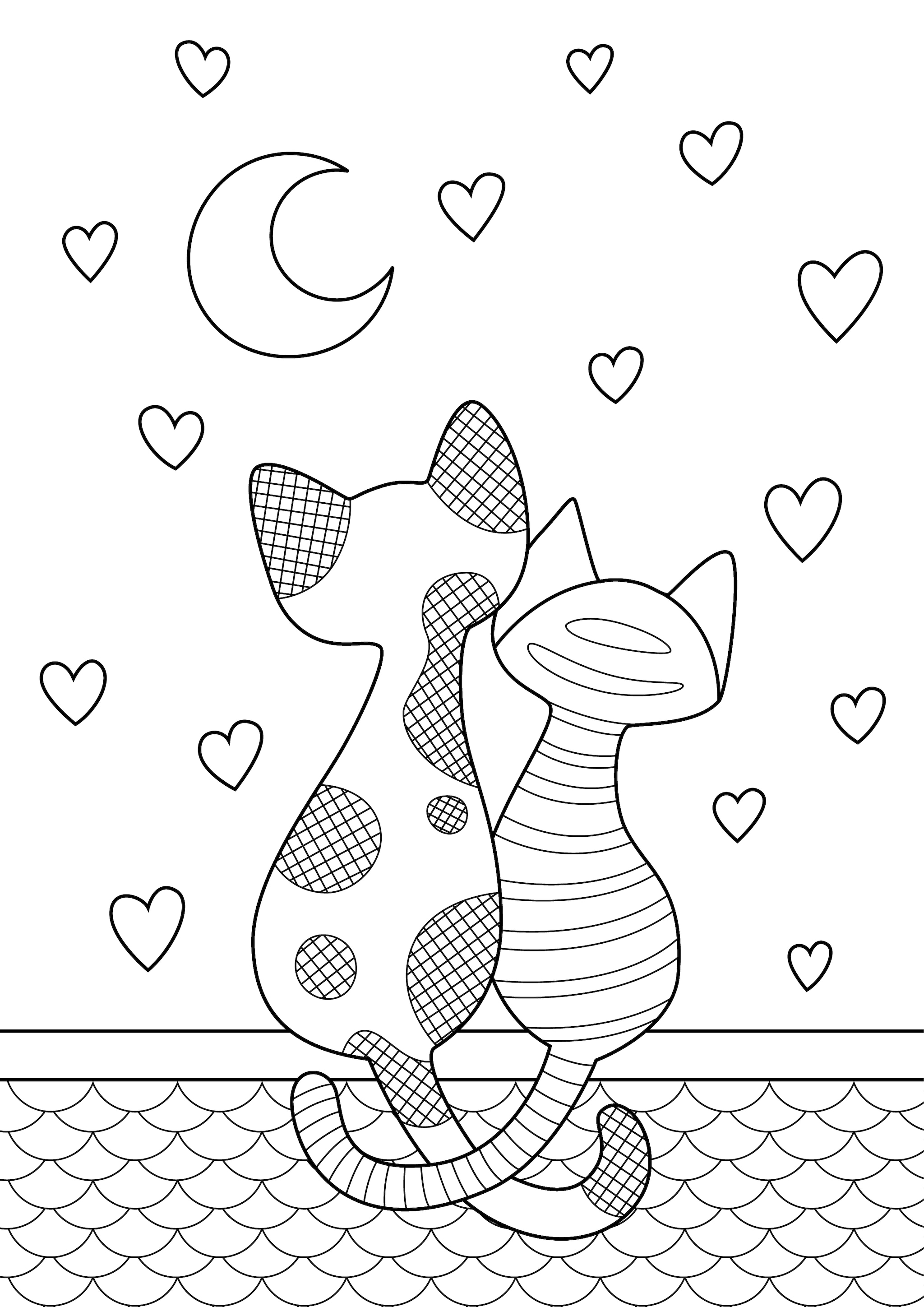 San valentino disegni da colorare per bambini for Disegni da colorare di case