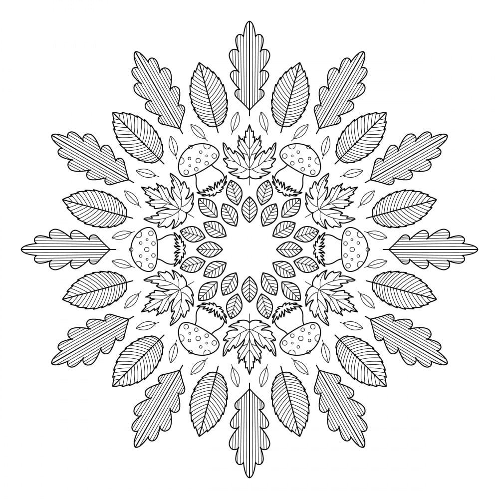 10 Mandala Autunnali E Antistress Da Colorare Con Immagini Nostrofiglio It